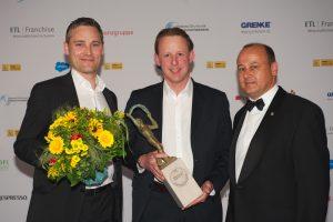 Roger Krog und Stéphane Bihler (Schmidt Küchen GmbH & Co. KG), Holger Blaufuß (McDonald's Deutschland Inc. Zweigniederlassung München)